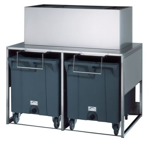 BREMA 125kg storage bin with two rollers. Requires cover assembly