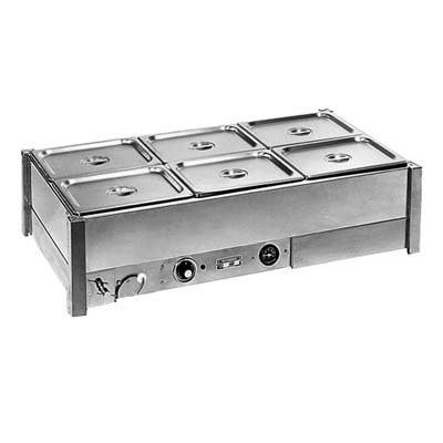 Roband BM23A- Hot Bain Marie - 2 Rows 6 x 1/2 size 100mm pans & lids