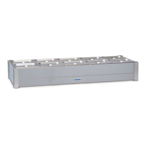 Roband BM25A- Hot Bain Marie - 2 Rows 10 x 1/2 size 100mm Pans & lids