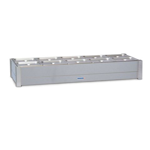 Roband BM26A - Hot Bain Marie - 2 Rows 12 x 1/2 size 100mm pans & lids