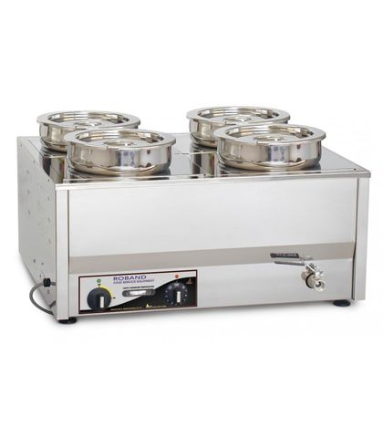 Roband BM4 - Counter Top Bain Maries + 2 X 200mm round (7.25L) pots & lids