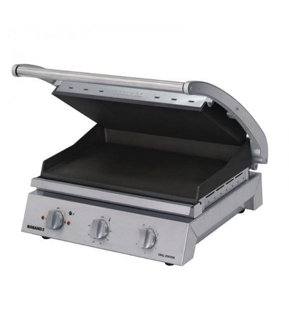 Roband GSA815ST - 8 Slice Grill Station W/ Smooth Top Plate And Non-Stick Coating