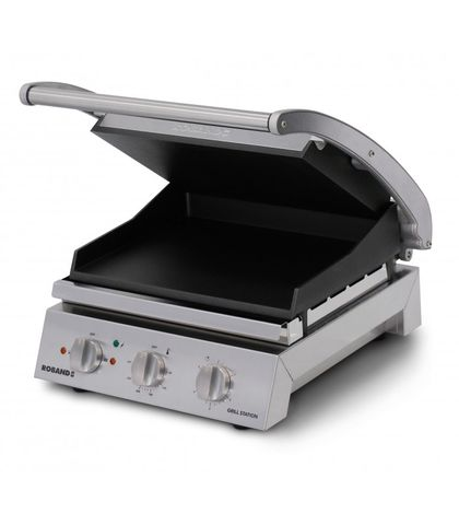 Roband GSA610ST - 6 Slice Grill Station W/ Smooth Top Plate And Non-Stick Coating
