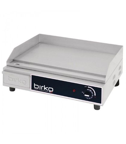 Birko 1003101 - Counter Top Small Griddle Hot Plate - Polished 10 AMP