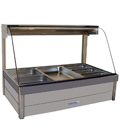 Roband C23 - Curved Glass Hot Food Display Bars - Double Row, 3 Pans Wide