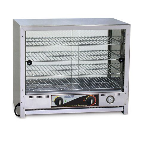 Roband PA50G - Pie And Food Warmer W/ Square Top - 50 Pies Doors both sides