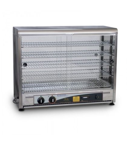 Roband PW100G - Pie And Food Warmer W/ Curved Top - 100 Pies Doors on both sides