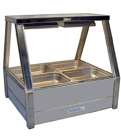 Roband E22 - Straight Glass Hot Food Display Bar - Double Row, 2 Pans Wide