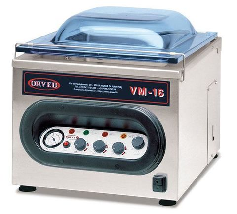 ORVED Vacuum Sealer Commercial use with VBP regular bags and VBS cooking bags