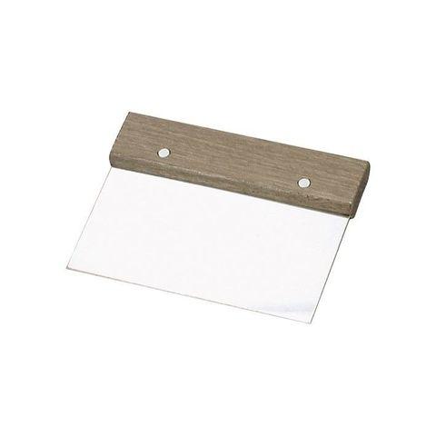 Dough Scraper S/S with Wood HDL150x75mm