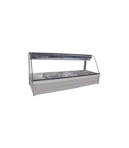 Roband CFX25RD - Curved Glass Refrigerated Food Display Bar (No Motor) - Double Row, 5 Pans Wide