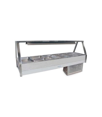 Roband ERX26RD - Straight Glass Refrigerated Food Display Bar - Double Row, 6 Pans Wide