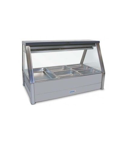 Roband EFX23RD - Straight Glass Refrigerated Food Display Bar (No Motor) - Double Row, 3 Pans Wide
