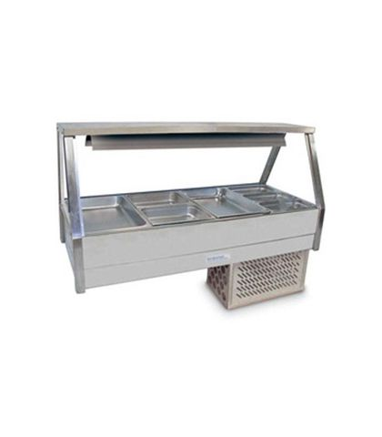 Roband ERX24RD - Straight Glass Refrigerated Food Display Bar - Double Row, 4 Pans Wide