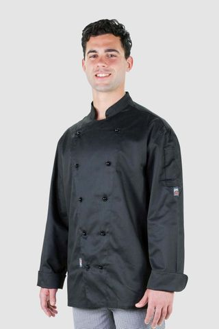 Traditional Chef Jacket Black Long Sleeve