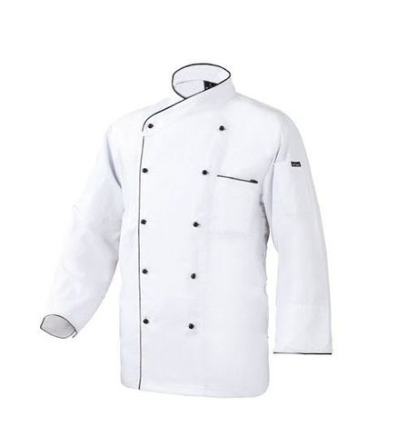Chef Jacket White with Small Black Button