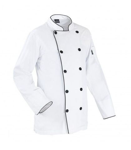 Chef Jacket White with Black Button