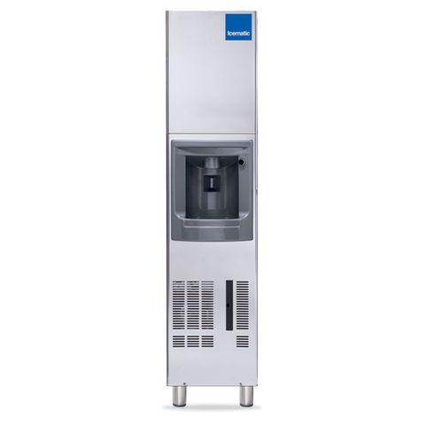 ICEMATIC FLOOR MODEL ICE DISPENSER 29kg per 24/hr of gourmet cube 12kg capacity storage bin