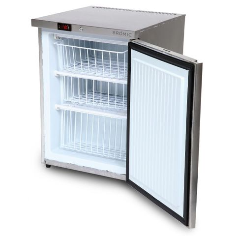 BROMIC Underbench Storage Freezer 115L Single Door Stainless Steel