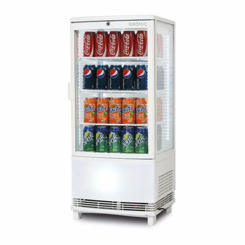 BROMIC Curved Glass 80L LED Countertop Beverage Chiller