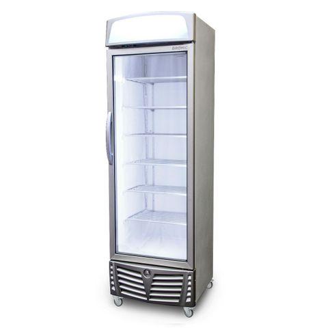 BROMIC LED Flat Glass Door 444L Upright Display Freezer