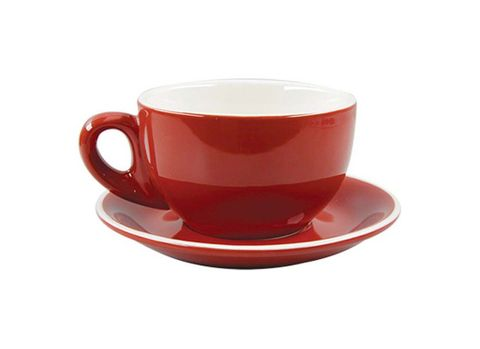 Cappuccino Cup/Saucer 220ml ROCKINGHAM Red/White