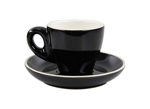 Tulip Espresso Cup/Saucer ROCKINGHAM Black/White 85ml