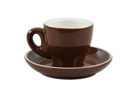 Tulip Espresso Cup/Saucer ROCKINGHAM Brown/White 85ml