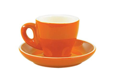 Tulip Espresso Cup/Saucer ROCKINGHAM Orange/White 85ml