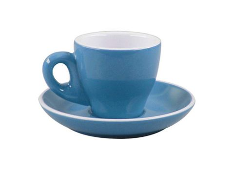 Tulip Espresso Cup/Saucer ROCKINGHAM Sky Blue/White 85ml