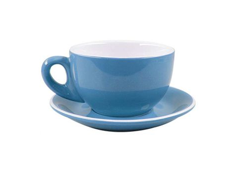 Cappuccino Cup/Saucer 220ml ROCKINGHAM Sky Blue/White