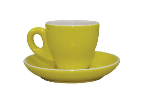 Tulip Espresso Cup/Saucer ROCKINGHAM Yellow/White 85ml
