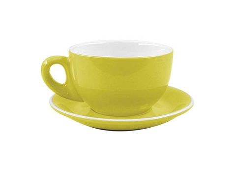 Cappuccino Cup/Saucer 220ml ROCKINGHAM Yellow/White