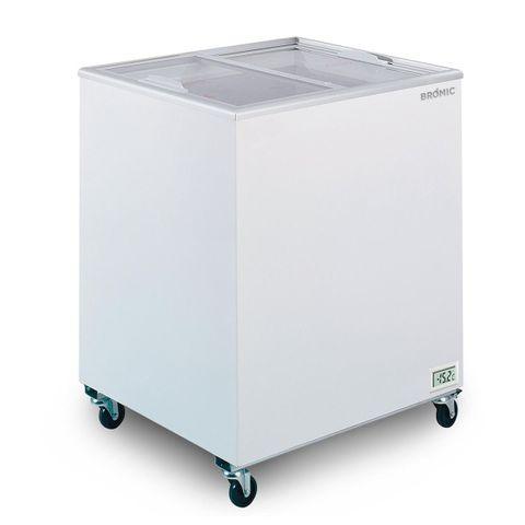 BROMIC Flat Glass Top 191L Display Chest Freezer