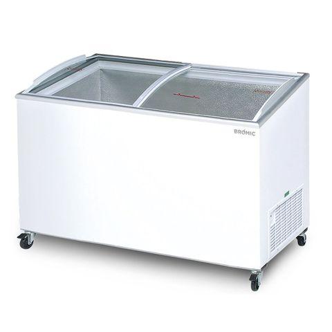 BROMIC Angled Glass Top 427L Display Chest Freezer