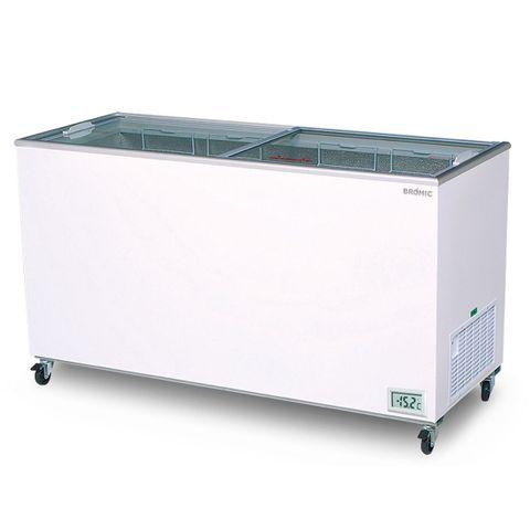 Flat Glass Top 491L Display Chest Freezer