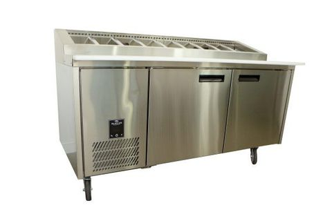 GLACIAN – 760mm Deep 2 Door S/S Pizza Prep Fridge