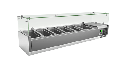 EXQUISITE Ingredient Counter Top Chillers 5 x GN1/3 and 1 GN1/2