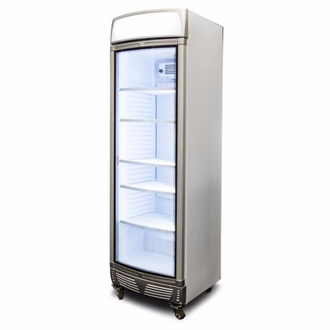 BROMIC LED Curved Glass Door 380L Upright Display Chiller with Lightbox
