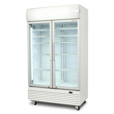BROMIC Flat Glass Door 1000L LED Display Chiller