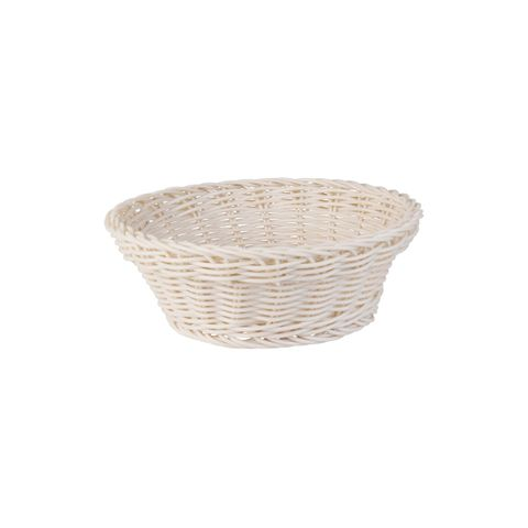 Round Display Basket Taupe 205mm - Heavy Duty Polypropylene