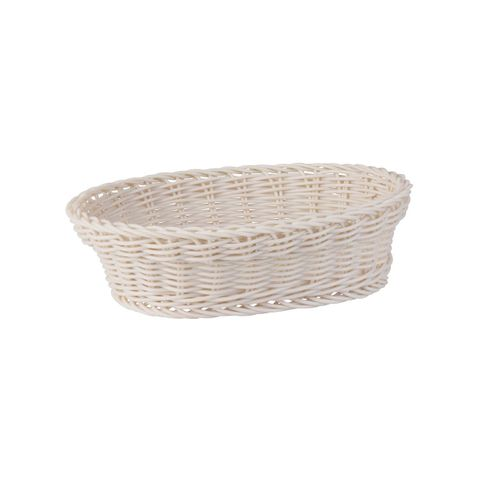 Oval Display Basket Taupe 240mm - Heavy Duty Polypropylene