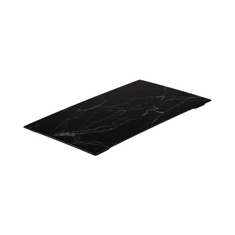 Display Serve Rectangular Platter 530x325mm RYNER Black Marble