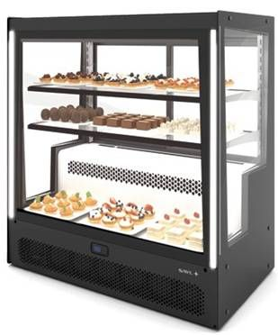 Sayl Barcelona Pak Compak Refrigerated Display Cases - Fxed Front and Rear Sliding Doors