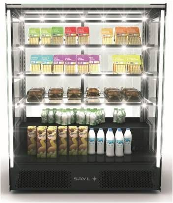 Sayl Barcelona Pak Refrigerated Display Cases - Fxed Front and Rear Sliding Doors