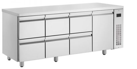 Inomak Low Boy Drawer Underbench Chiller - 6 Drawer