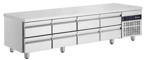Inomak Low Boy Drawer Underbench Chiller - 8 Drawer