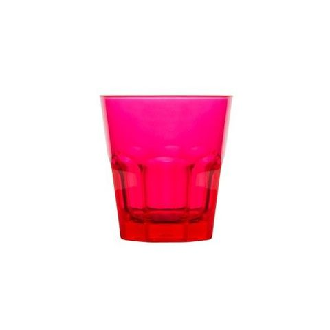 Polycarbonate Rock Tumbler 240ml Pink