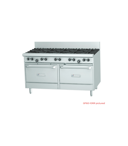 Garland HD Restaurant Series - 8 Open Burners, 300mm Griddle And 2 Ovens - Natural Gas (1500mm Wide)