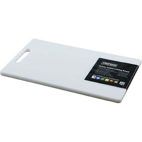 Cutting Board -PP 205x355x12mm White w/HDL